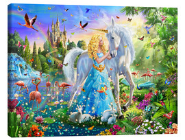 Canvas  The Princess, the Unicorn and the Castle - Adrian Chesterman