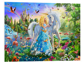 Foam board print  The Princess, the unicorn and the castle - Adrian Chesterman
