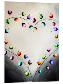 Acrylic print  Blooming love - Yannick Leniger