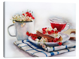 Canvas print  eclair with red currant - Maria Mishkareva