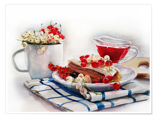 Premium poster eclair with red currant