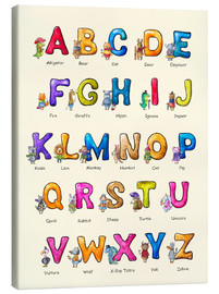 Canvas print  English ABC for Children - Elena Schweitzer