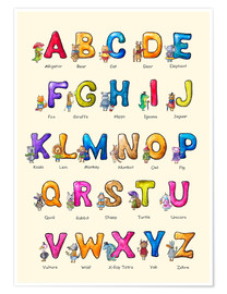 Poster  English ABC for Children - Elena Schweitzer