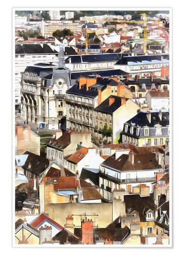 Premium poster Colorful painting of Dijon