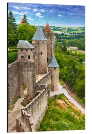 Aluminium print  Fortress Carcassonne in France, Languedoc