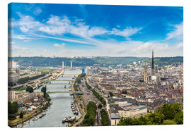 Canvas  Panoramic aerial view of Rouen