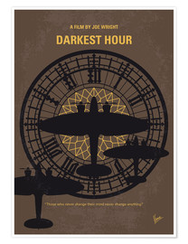 Premium poster No901 My Darkest Hour minimal movie poster