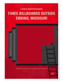 Premium poster No900 My Three Billboards minimal movie poster