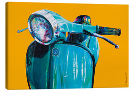 Canvas print  Vespa yellow Popart - Renate Berghaus
