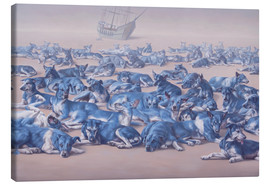 Canvas print  blue dogs - Johnny Palacios