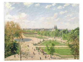 Foam board print  The Garden of the Tuileries on a Spring Morning - Camille Pissarro