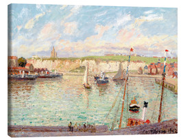 Canvas print  Harbor in Dieppe - Camille Pissarro