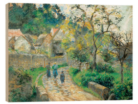 Wood  Village street in Camille - Camille Pissarro