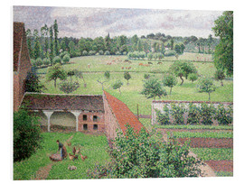Foam board print  Look out my window - Camille Pissarro
