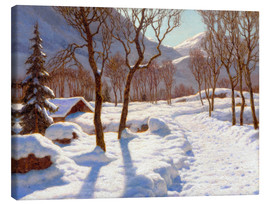 Canvas print  Winter scene in the Alps - Ivan Fedorovich Choultse