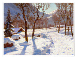 Premium poster  Winter scene in the Alps - Ivan Fedorovich Choultse