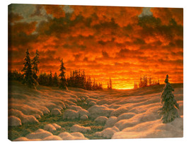 Canvas print  Winter sunset - Ivan Fedorovich Choultse