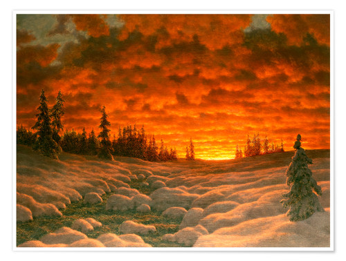 Premium poster Winter sunset