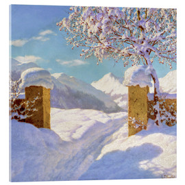 Acrylic print  Symphony in white and blue - Ivan Fedorovich Choultse