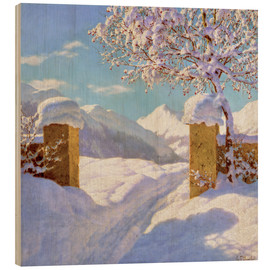 Wood  Symphony in white and blue - Ivan Fedorovich Choultse