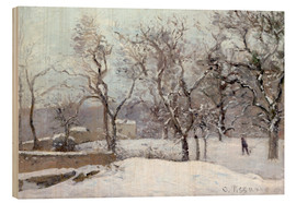 Wood  Snow Landscape in Louveciennes - Camille Pissarro