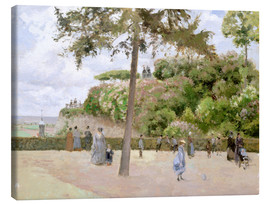 Canvas print  The Garden at Pontoise - Camille Pissarro