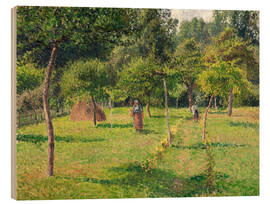 Wood print  Orchard in Éragny - Camille Pissarro