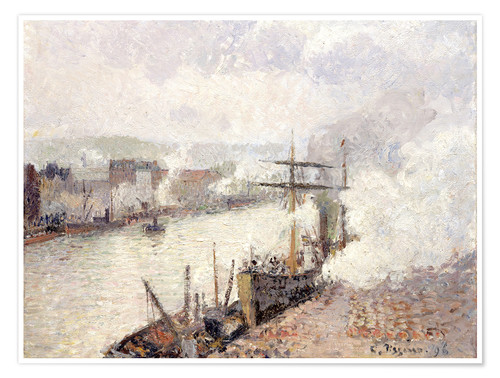 Premium poster Steamboats in the Port of Rouen