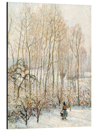 Aluminium print  Morning Sunlight on the Snow - Camille Pissarro