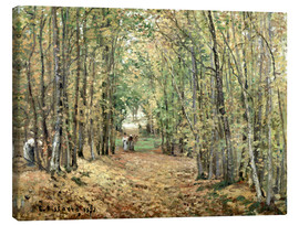 Canvas  The forest at Marly - Camille Pissarro