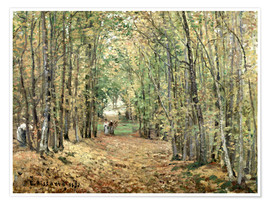Premium poster  The forest at Marly - Camille Pissarro