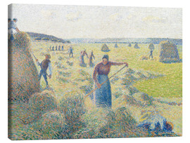 Canvas print  The haymaking, Eragny - Camille Pissarro