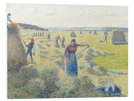 Foam board print  The haymaking, Eragny - Camille Pissarro