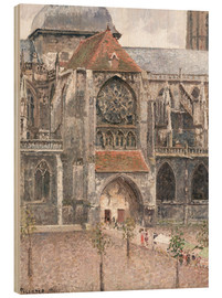 Wood print  Church of Saint Jacques in Dieppe - Camille Pissarro