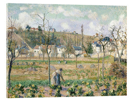 Acrylic print  The garden of Maubuisson - Camille Pissarro