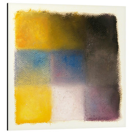 Aluminium print  Abstraction yellow, blue and purple - Augusto Giacometti