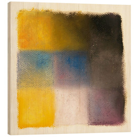 Wood  Abstraction yellow, blue and purple - Augusto Giacometti