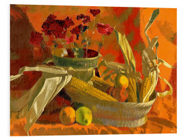 Augusto Giacometti - Corncobs and oranges II