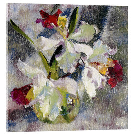 Acrylic glass  Orchids II - Augusto Giacometti