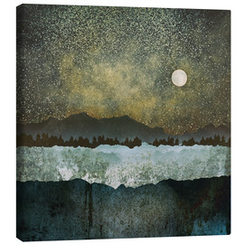 Canvas print  Stars , Mountains and Trees - SpaceFrog Designs
