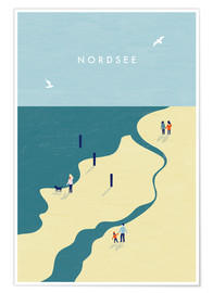 Premium poster Northsea Illustration