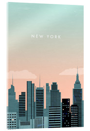Acrylic print  Illustration of New York - Katinka Reinke