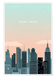 Premium poster  Illustration of New York - Katinka Reinke