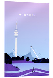 Acrylic print  Munich illustration - Katinka Reinke