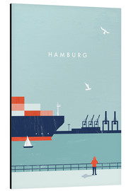 Alu-Dibond  Hamburg Illustration - Katinka Reinke