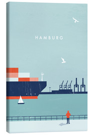 Canvas print  Hamburg Illustration - Katinka Reinke