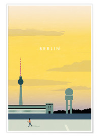 Poster  Berlin - Tempelhofer Feld illustration - Katinka Reinke