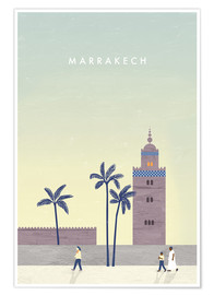 Premium poster Marrakesh illustration