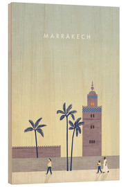 Wood print  Marrakesh illustration - Katinka Reinke