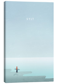 Canvas  Sylt surfer illustration - Katinka Reinke